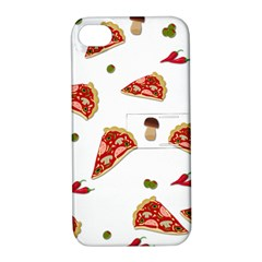 Pizza Pattern Apple Iphone 4/4s Hardshell Case With Stand by Valentinaart