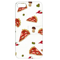 Pizza Pattern Apple Iphone 5 Hardshell Case With Stand by Valentinaart