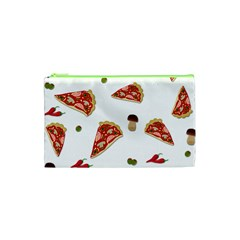 Pizza Pattern Cosmetic Bag (xs) by Valentinaart