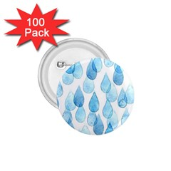 Rain Drops 1 75  Buttons (100 Pack)  by Brittlevirginclothing
