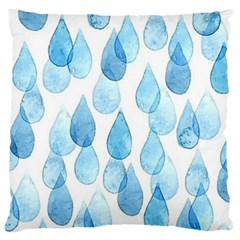 Rain Drops Large Cushion Case (two Sides) by Brittlevirginclothing