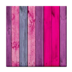 Pink Wood Tile Coasters by Brittlevirginclothing