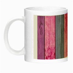 Pink Wood Night Luminous Mugs by Brittlevirginclothing