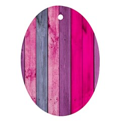 Pink Wood Oval Ornament (two Sides) by Brittlevirginclothing