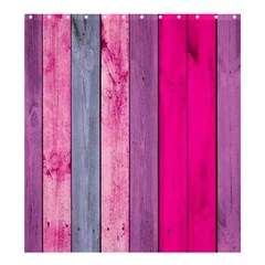 Pink Wood Shower Curtain 66  X 72  (large)  by Brittlevirginclothing
