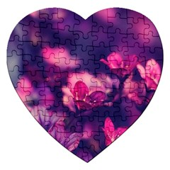 Blurry Flowers Jigsaw Puzzle (heart) by Brittlevirginclothing