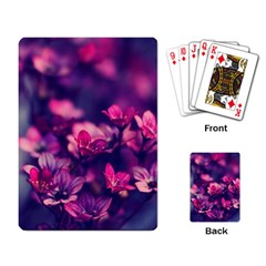 Blurry Flowers Playing Card by Brittlevirginclothing