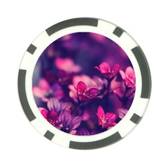 Blurry Flowers Poker Chip Card Guard by Brittlevirginclothing