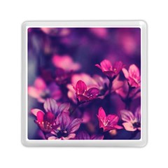 Blurry Flowers Memory Card Reader (square)  by Brittlevirginclothing