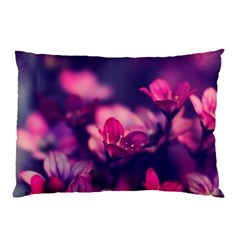 Blurry Flowers Pillow Case (two Sides) by Brittlevirginclothing