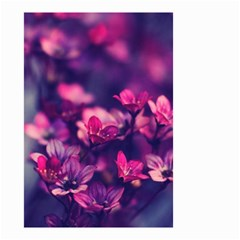 Blurry Flowers Small Garden Flag (two Sides) by Brittlevirginclothing