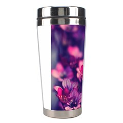Blurry Flowers Stainless Steel Travel Tumblers by Brittlevirginclothing