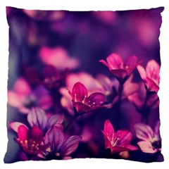 Blurry Flowers Standard Flano Cushion Case (one Side) by Brittlevirginclothing