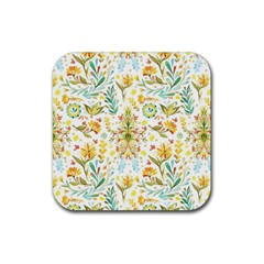 Vintage Pastel Rubber Coaster (square)  by Brittlevirginclothing