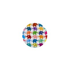 Cute Colorful Elephants 1  Mini Magnets by Brittlevirginclothing