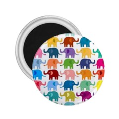 Cute Colorful Elephants 2 25  Magnets by Brittlevirginclothing