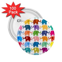 Cute Colorful Elephants 2 25  Buttons (100 Pack)  by Brittlevirginclothing