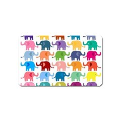Cute colorful elephants Magnet (Name Card) by Brittlevirginclothing