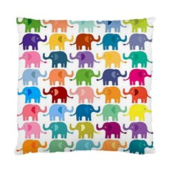 Cute Colorful Elephants Standard Cushion Case (one Side) by Brittlevirginclothing
