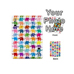 Cute Colorful Elephants Playing Cards 54 (mini)  by Brittlevirginclothing