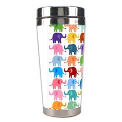 Cute Colorful Elephants Stainless Steel Travel Tumblers by Brittlevirginclothing