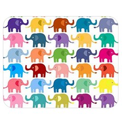 Cute Colorful Elephants Double Sided Flano Blanket (medium)  by Brittlevirginclothing