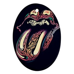 The Rolling Stones  Ornament (oval) by Brittlevirginclothing