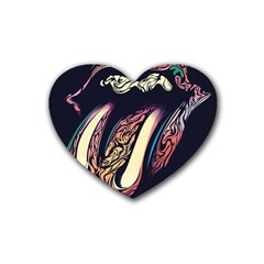 The Rolling Stones  Heart Coaster (4 Pack)  by Brittlevirginclothing