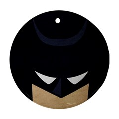 Batman Ornament (round) by Brittlevirginclothing