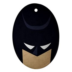 Batman Oval Ornament (two Sides) by Brittlevirginclothing