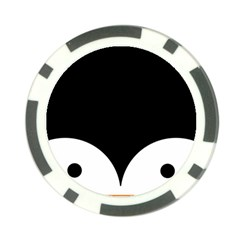 Cute Pinguin Poker Chip Card Guard by Brittlevirginclothing