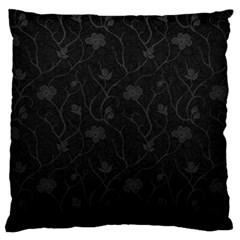 Dark Silvered Flower Large Cushion Case (one Side) by Brittlevirginclothing