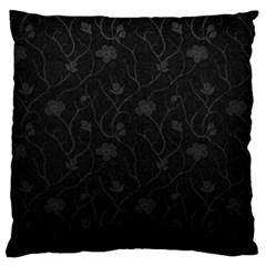 Dark Silvered Flower Standard Flano Cushion Case (one Side) by Brittlevirginclothing
