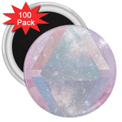 Pastel Crystal 3  Magnets (100 Pack) by Brittlevirginclothing