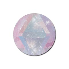 Pastel Crystal Rubber Round Coaster (4 Pack)  by Brittlevirginclothing