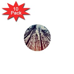 Up View Forest 1  Mini Buttons (10 Pack)  by Brittlevirginclothing