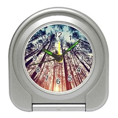 Up View Forest Travel Alarm Clocks by Brittlevirginclothing