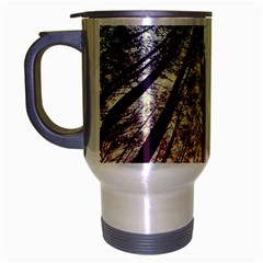 Up View Forest Travel Mug (silver Gray) by Brittlevirginclothing