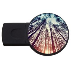 Up View Forest Usb Flash Drive Round (4 Gb) by Brittlevirginclothing