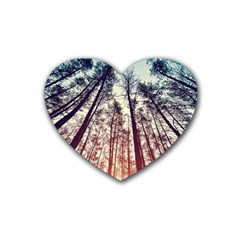 Up View Forest Heart Coaster (4 Pack)  by Brittlevirginclothing