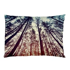 Up View Forest Pillow Case by Brittlevirginclothing