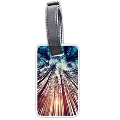 Up View Forest Luggage Tags (two Sides) by Brittlevirginclothing