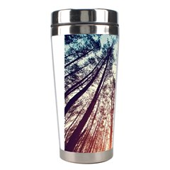 Up View Forest Stainless Steel Travel Tumblers by Brittlevirginclothing