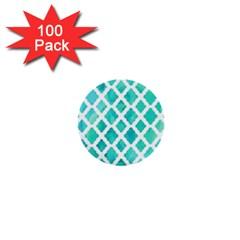 Blue Mosaic 1  Mini Buttons (100 Pack)