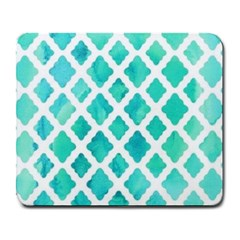 Blue Mosaic Large Mousepads by Brittlevirginclothing