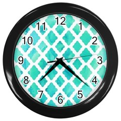 Blue Mosaic Wall Clocks (black) by Brittlevirginclothing