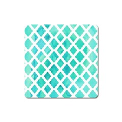 Blue Mosaic Square Magnet by Brittlevirginclothing