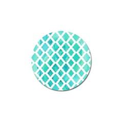 Blue Mosaic Golf Ball Marker (4 Pack) by Brittlevirginclothing