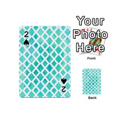 Blue Mosaic Playing Cards 54 (mini)  by Brittlevirginclothing