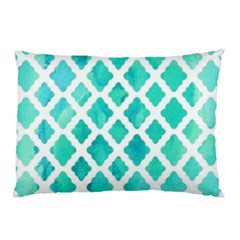 Blue Mosaic Pillow Case (two Sides) by Brittlevirginclothing